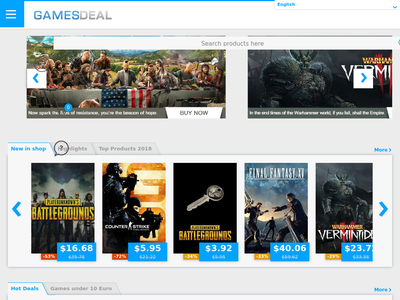 Bildschirmfoto für GamesDeal