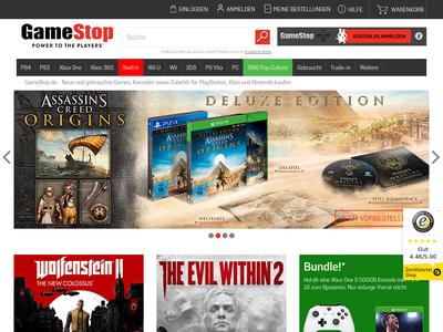 Bildschirmfoto für gamestop.de