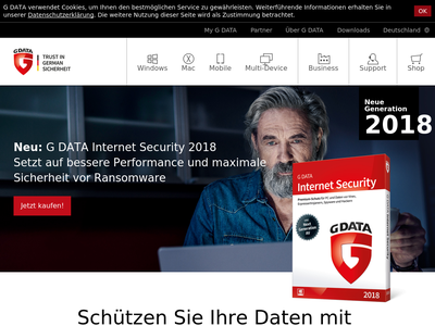 Bildschirmfoto für G Data Software