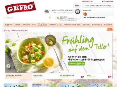 Bildschirmfoto für GEFRO
