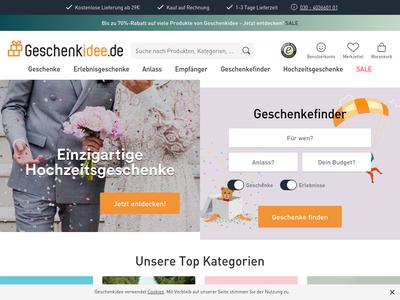 Bildschirmfoto für Geschenkidee.de