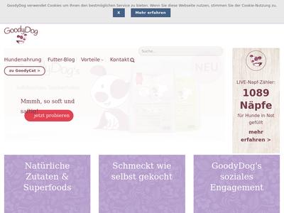 Bildschirmfoto für goodydog.de