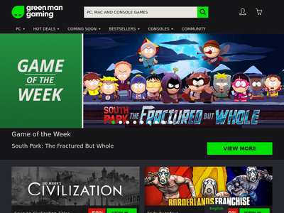 Bildschirmfoto für Green Man Gaming