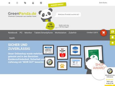 Bildschirmfoto für GreenPanda.de
