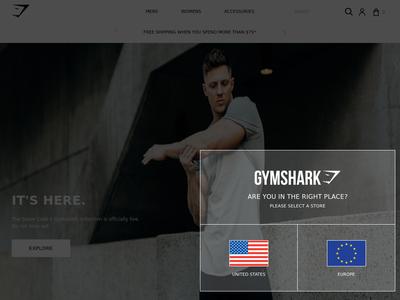 Bildschirmfoto für gymshark.com