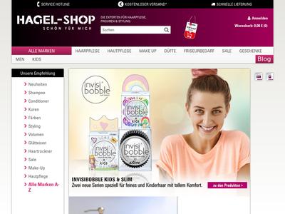 Bildschirmfoto für Hagel-Shop