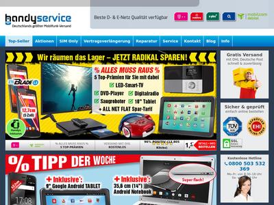 Bildschirmfoto für handyservice.de