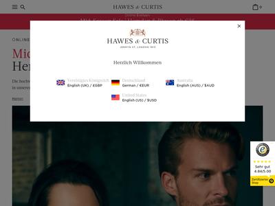 Bildschirmfoto für Hawes & Curtis