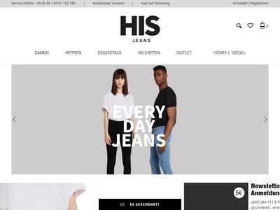 Bildschirmfoto für H.I.S-Jeans