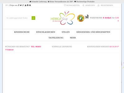 Bildschirmfoto für Hobea