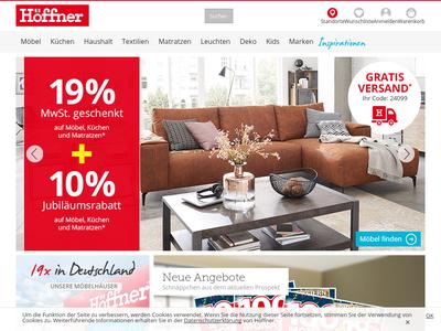 Bildschirmfoto für Höffner Möbelhaus