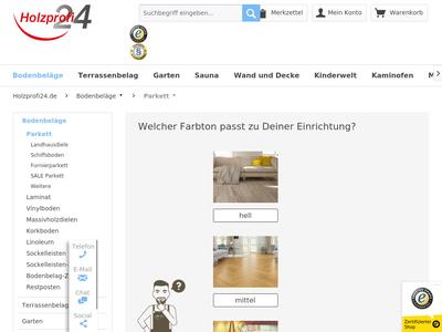 Bildschirmfoto für Holzprofi24