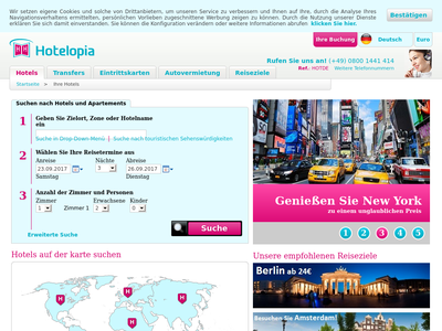 Bildschirmfoto für Hotelopia