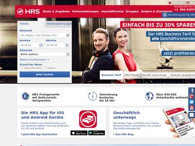 Bildschirmfoto für HRS