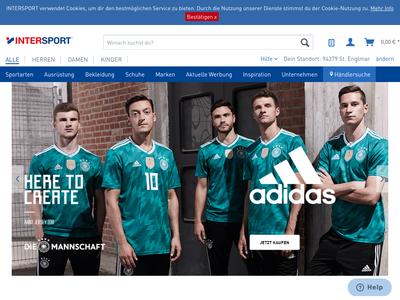 Bildschirmfoto für INTERSPORT