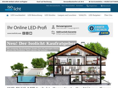 Bildschirmfoto für Isolicht.com