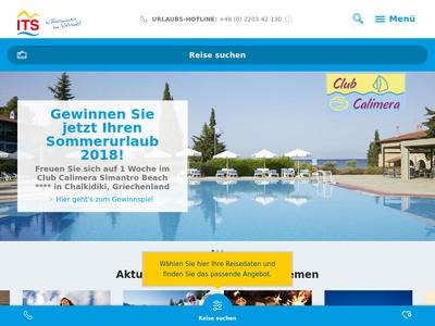 Bildschirmfoto für ITS Reisen