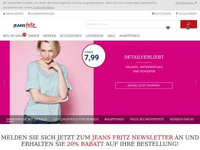 Bildschirmfoto für Jeans Fritz