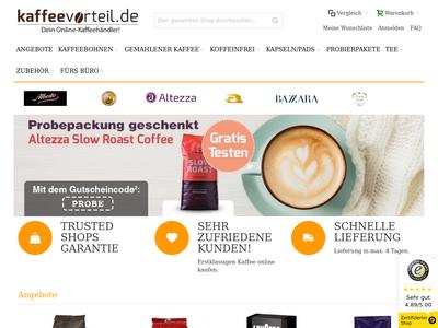 Bildschirmfoto für Kaffeevorteil
