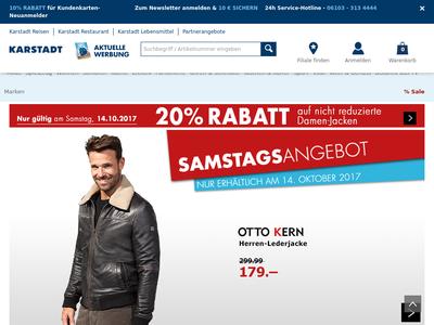 Bildschirmfoto für Karstadt