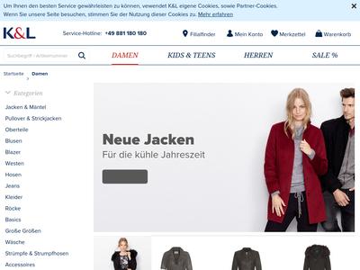 Bildschirmfoto für K&L Ruppert