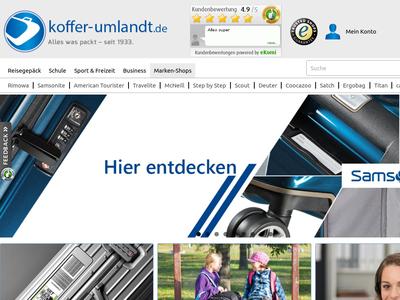 Bildschirmfoto für Koffer-Umlandt