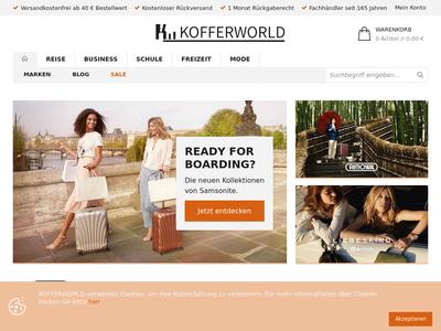 Bildschirmfoto für Kofferworld