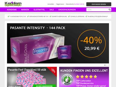 Bildschirmfoto für Kondomoutlet.de