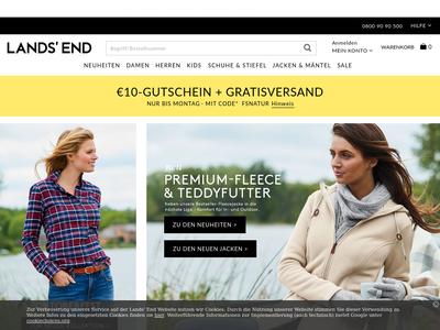 Bildschirmfoto für lands' end