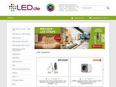 Bildschirmfoto für led.de