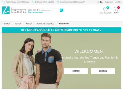 Bildschirmfoto für Lesara