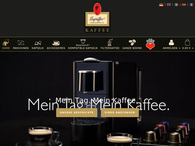 Bildschirmfoto für leysieffer-kaffee.com
