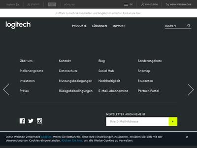 Bildschirmfoto für Logitech