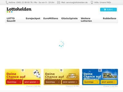 Bildschirmfoto für Lottohelden.de