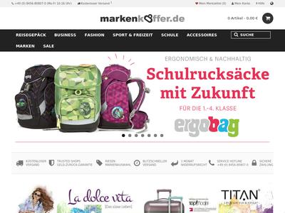 Bildschirmfoto für Markenkoffer