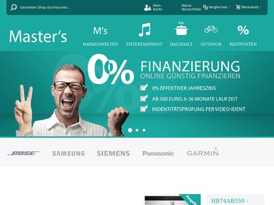 Bildschirmfoto für Masters.de