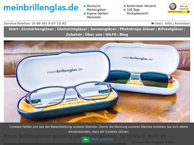 Bildschirmfoto für MeinBrillenglas