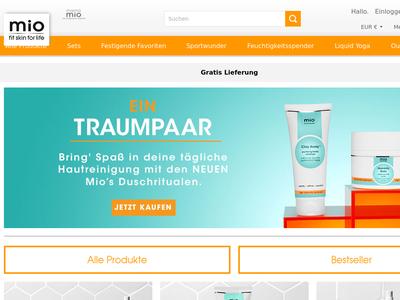 Bildschirmfoto für mioskincare.de
