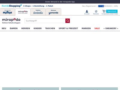 Bildschirmfoto für Mirapodo