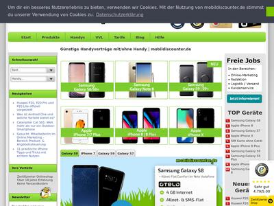 Bildschirmfoto für mobildiscounter.de