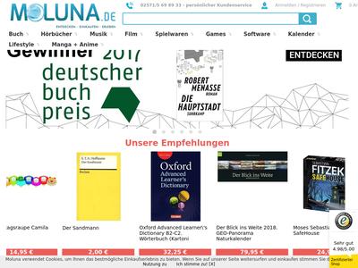 Bildschirmfoto für Moluna.de