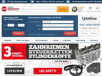 Bildschirmfoto für Motointegrator