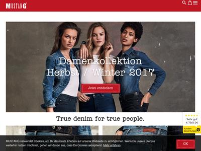 Bildschirmfoto für MUSTANG Jeans