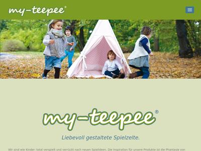 Bildschirmfoto für my-teepee.de