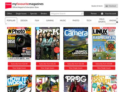 Bildschirmfoto für my favourite magazines