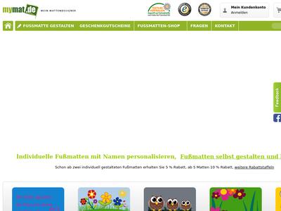 Bildschirmfoto für mymat.de