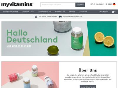 Bildschirmfoto für Myvitamins