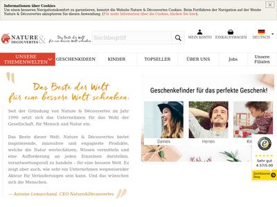 Bildschirmfoto für natureetdecouvertes.de