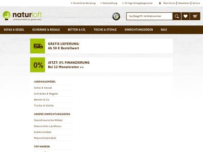 Bildschirmfoto für naturloft