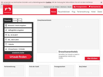 Bildschirmfoto für neckermann-urlaubswelt.de